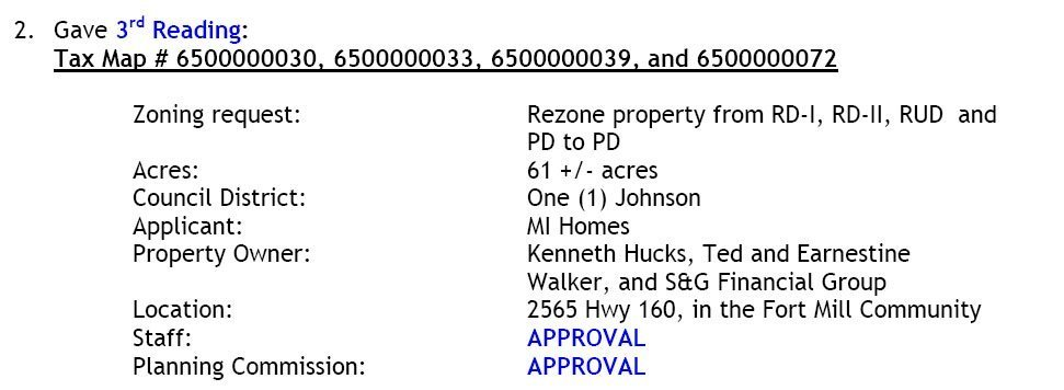York County Rezoning Info