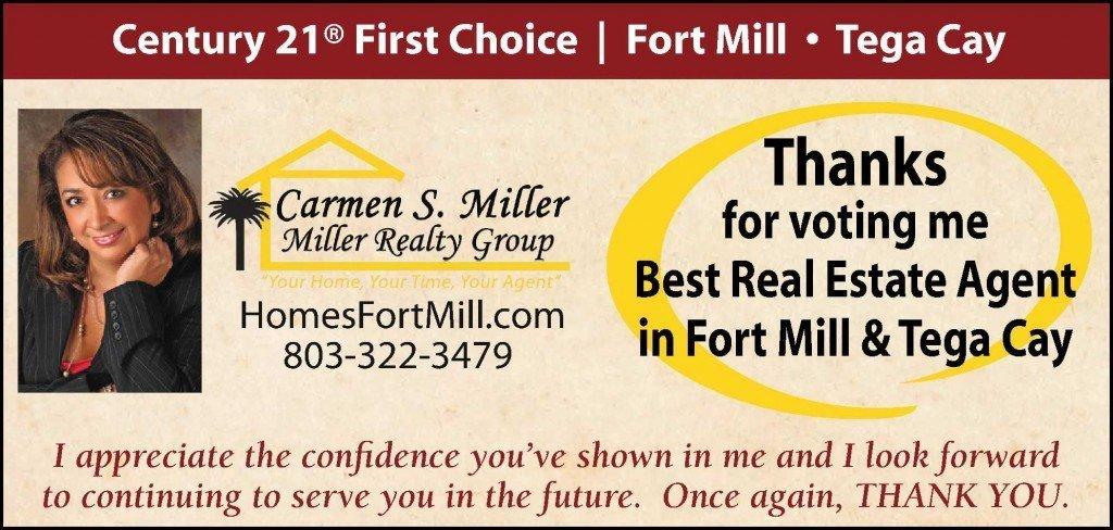 Carmen Miller best real estate agent ad