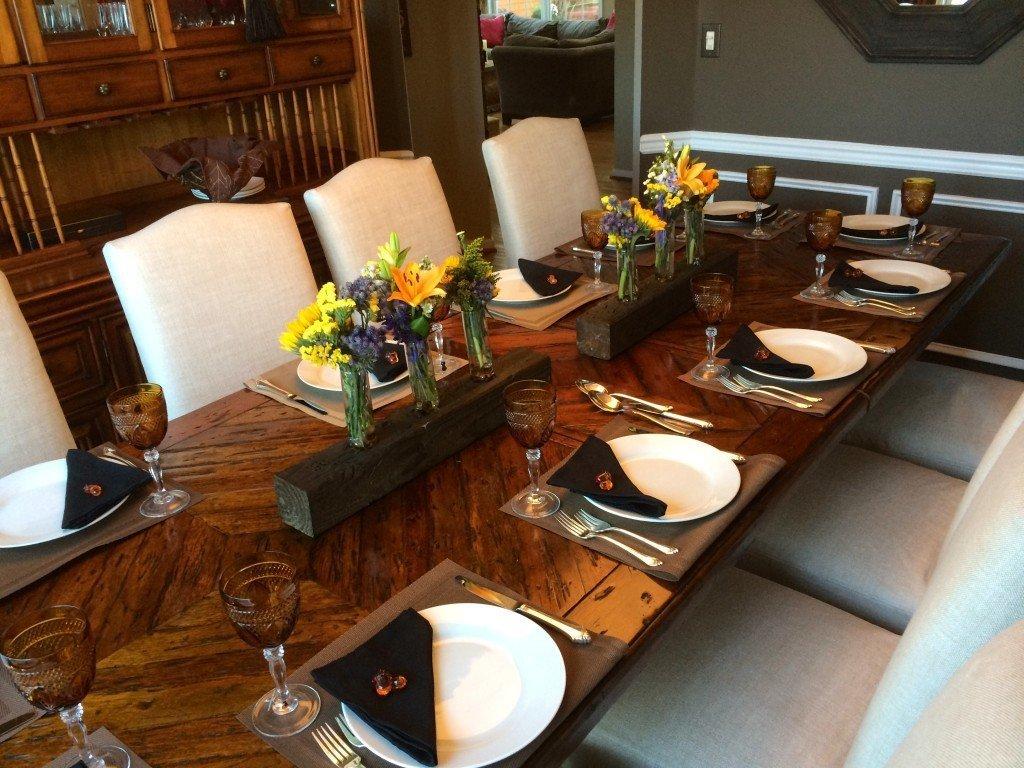 Miller thanksgiving table