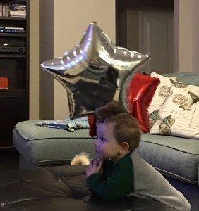 This sweet boy loves a good balloon!