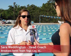 Coach Sara Weddington Breakers Swim Team