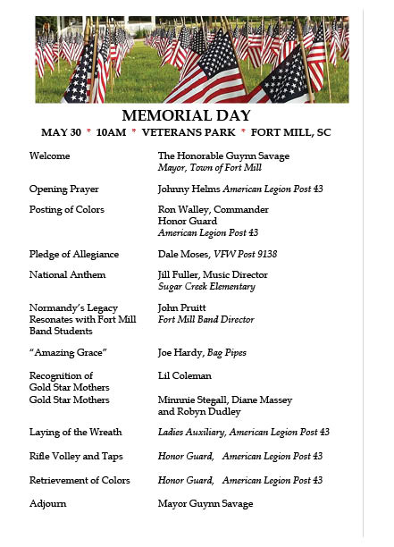 Fort Mill memorial_Day2016