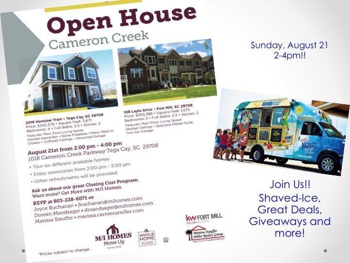 Cameron Creek Open House Aug 21