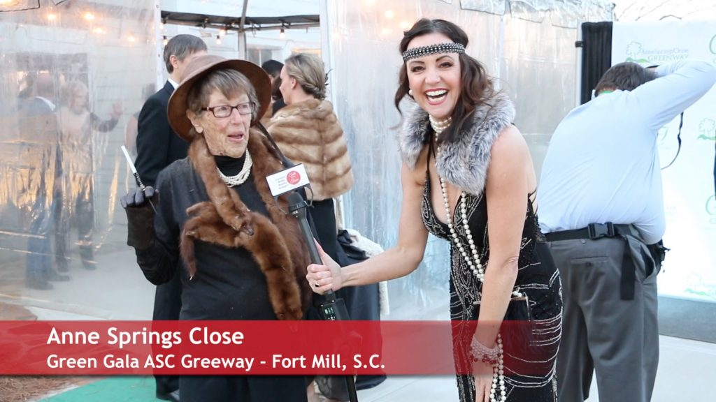 Anne Springs Close Green Gala Interview