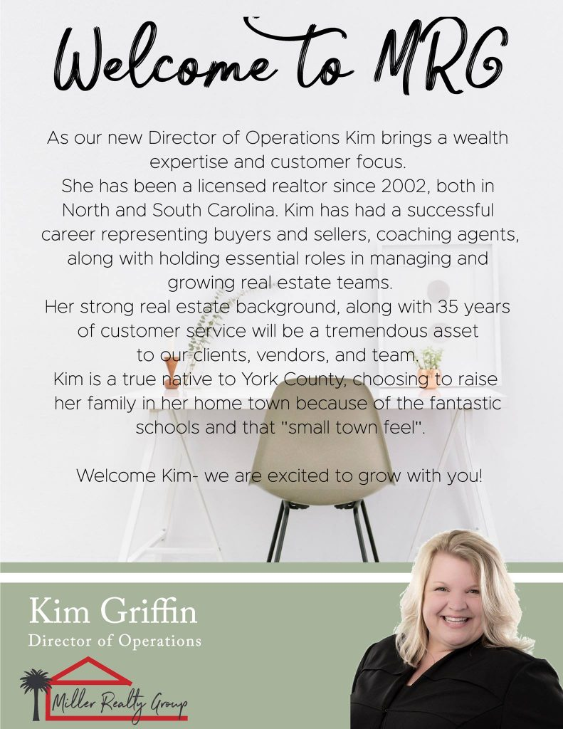 Welcome Kim Griffin to the Miller Realty Group!
